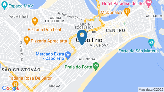 Green Hotel Cabo Frio Map