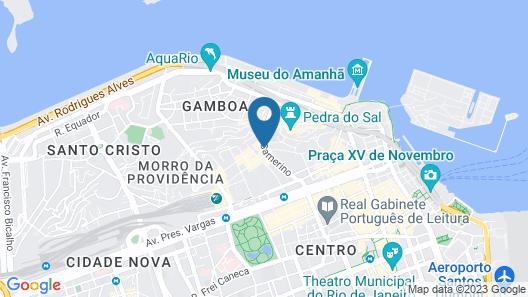 Pompeu Rio Hotel Map