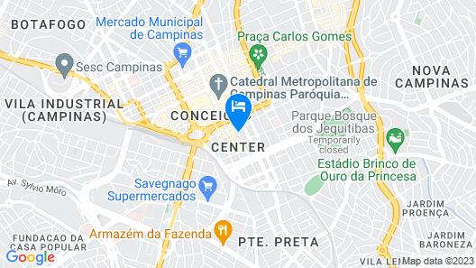 Euro Suite Campinas Map