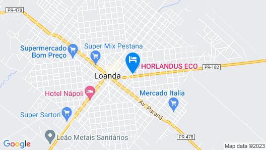 Horlandu's Eco Hotel Map