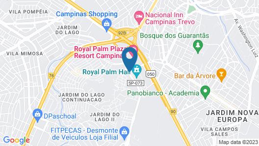 Royal Palm Plaza Resort Campinas Map