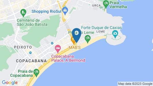 Hilton Copacabana Rio de Janeiro Map