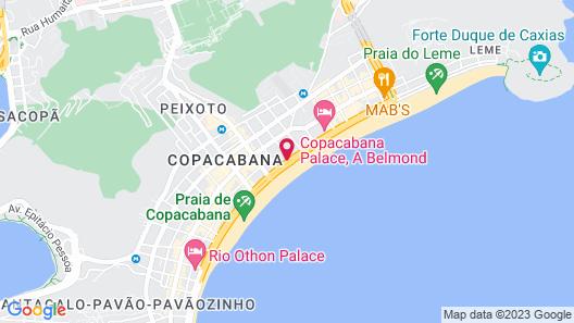 Arena Copacabana Hotel Map