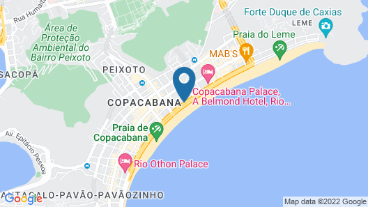 Arena Copacabana Hotel Map