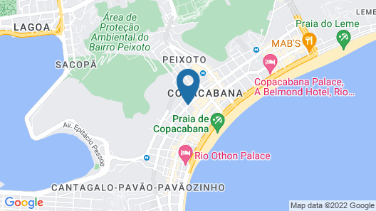 Hotel Atlântico Travel Map