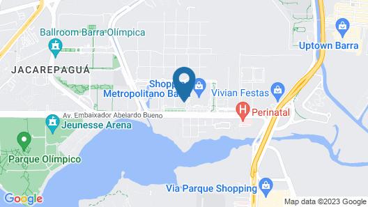 Hilton Barra Rio De Janeiro Map