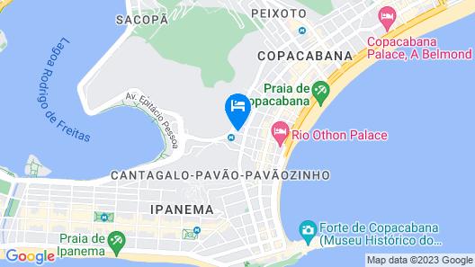 Hotel Atlântico Rio Map