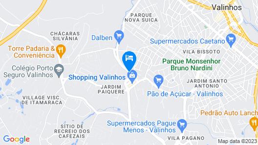 Blue Tree Towers Valinhos Map