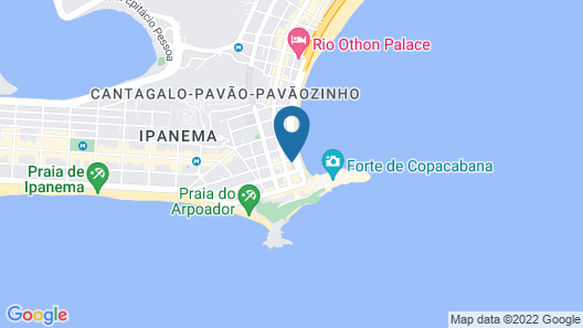 Orla Copacabana Hotel Map
