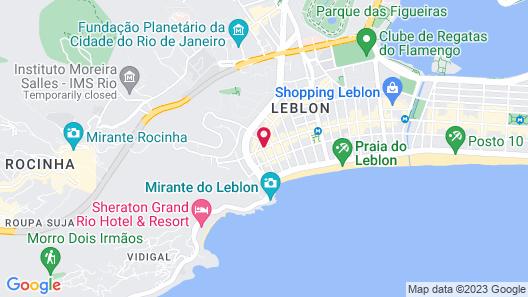 Ritz Hotel Leblon Map