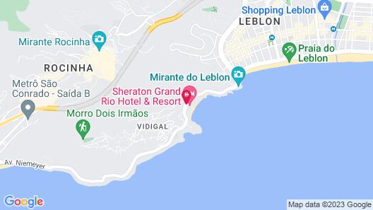 Sheraton Grand Rio Hotel & Resort Map