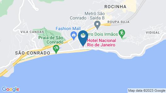 Hotel Nacional Rio de Janeiro Map