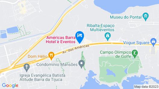 Américas Barra Hotel Map