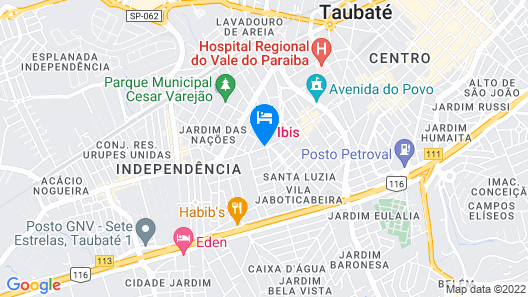 ibis Taubate Map