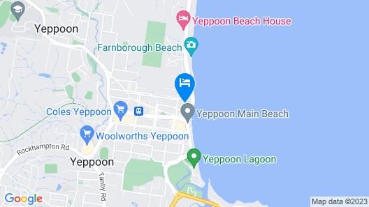 Oshen Holiday Apartments Yeppoon Map