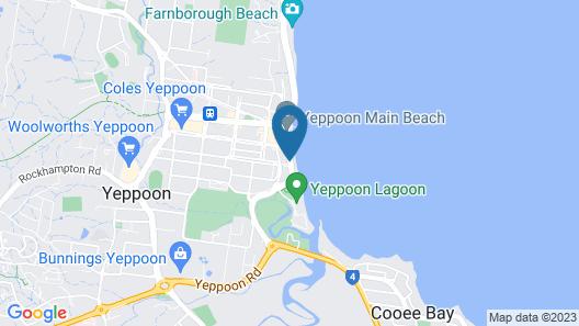 Yeppoon Surfside Motel Map