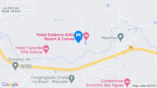 Hotel Estância Atibainha Map
