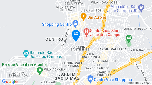 Dan Inn São José dos Campos Map