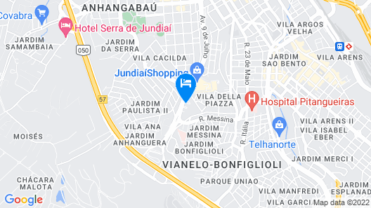 ibis budget Jundiai Shopping Map