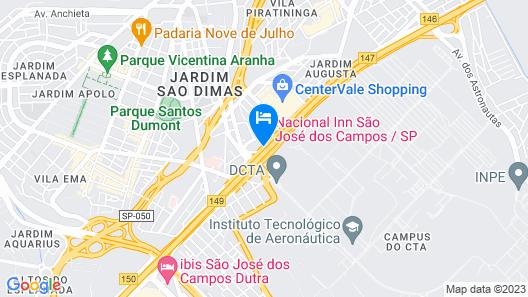 Nacional Inn São José dos Campos Map