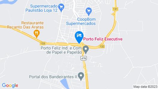 Porto Feliz Executive Hotel Map