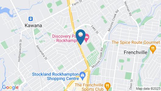 Discovery Parks – Rockhampton Map