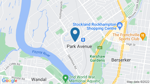 Park Avenue Hotel Motel Map