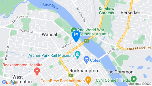 City-ville Luxury Apartments & Motel Map