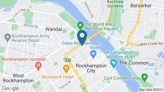 Hampton Villa Motel Map