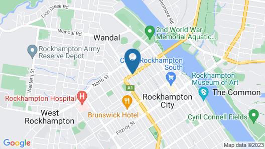 Best Western Plus The Stirling Rockhampton Map