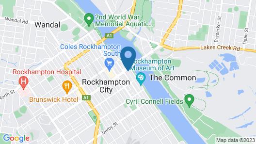 Criterion Hotel Rockhampton Map