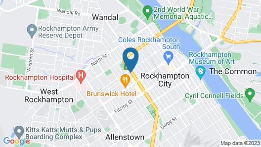 Rockhampton Court Motor Inn Map