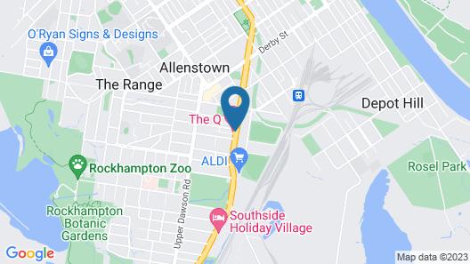 The Q Motel Map