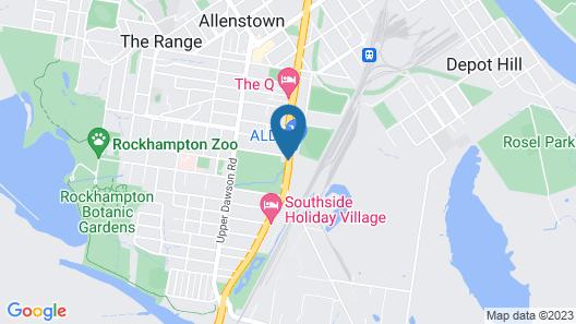 Rocky Gardens Motor Inn Map