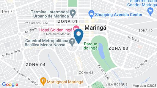 Hotel Deville Business Maringá Map