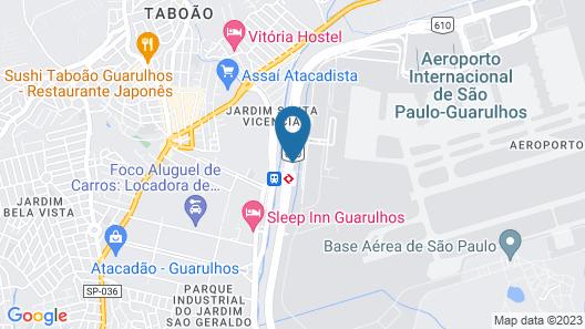 FAST SLEEP Guarulhos by Slaviero Hotéis Map