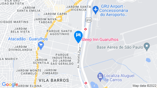 Sleep Inn Guarulhos Map