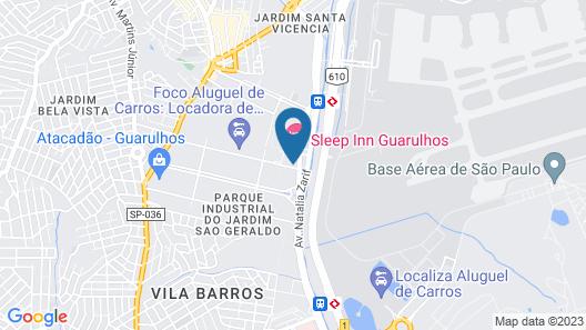 Comfort Hotel Guarulhos Map
