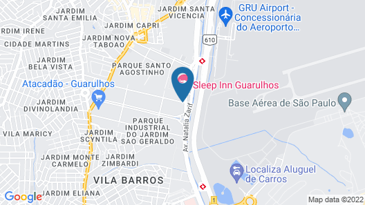 Hampton by Hilton Guarulhos Airport Map