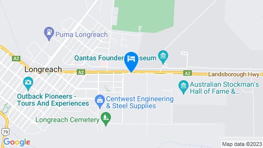 Jumbuck Motel Map