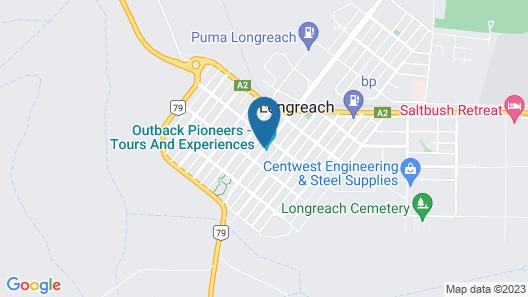 Longreach Motel Map