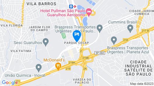 Sao Paulo Airport Marriott Hotel Map