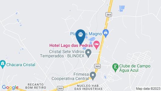 Hotel Lago das Pedras Map