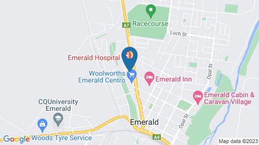 Emerald Motel Apartments Map