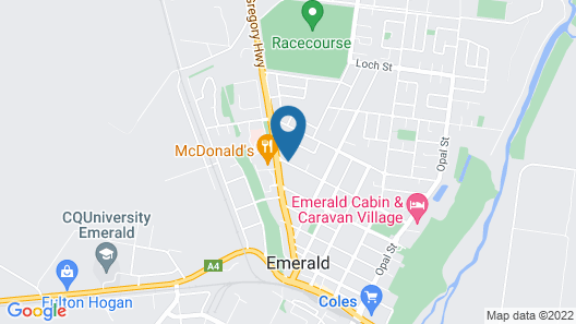 Emerald Maraboon Motor Inn Map