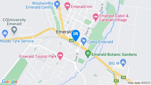 A & A Lodge Motel Emerald Map