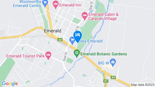Emerald Executive Apartments Map