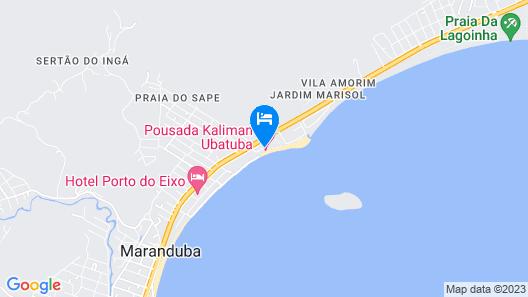 Pousada Kaliman Ubatuba Map