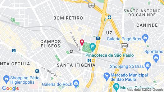 Luz Plaza São Paulo Map