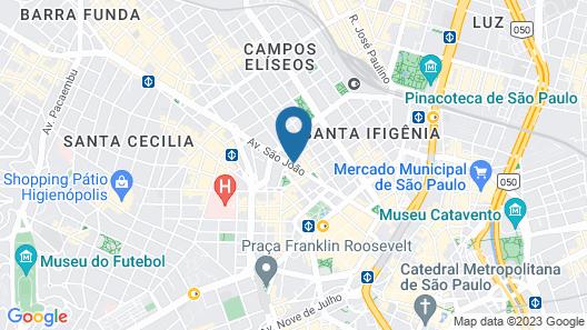 Ibis Budget SP Centro São João Map